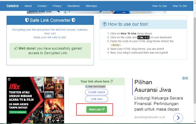 Tutorial Membuat Blog Redirect Seperti Safelinkconverter
