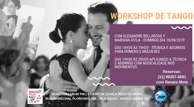 Workshop de Tango com Alexandre Bellarosa y Mariana Ávilla