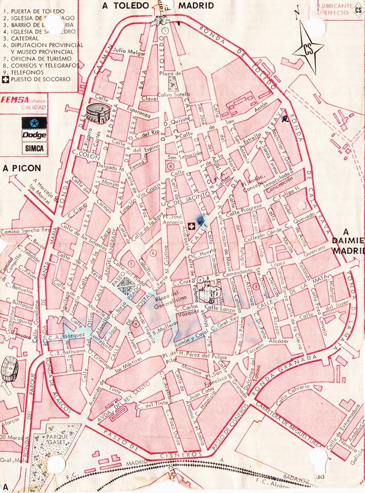 Dextrangis mapa de ciudad real en el setenta - Plano de ciudad real ...