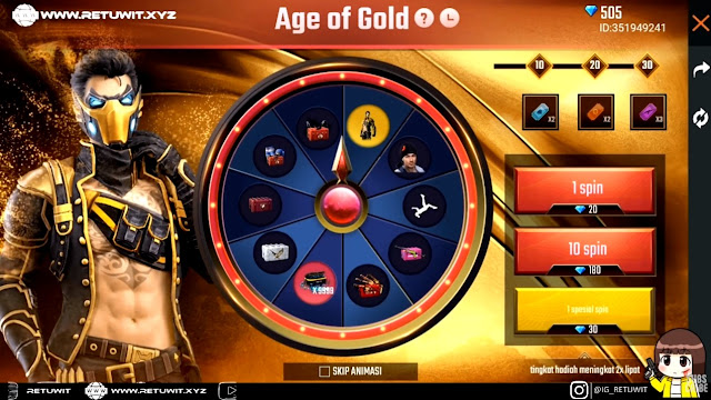Bocoran Bundle Diamond Royale Terbaru Age Of Gold Bundle Free Fire