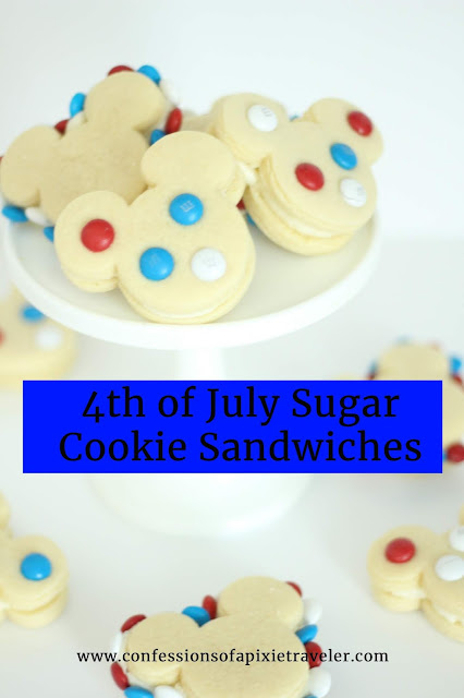 4th of July Mickey Sugar Cookie Sandwiches