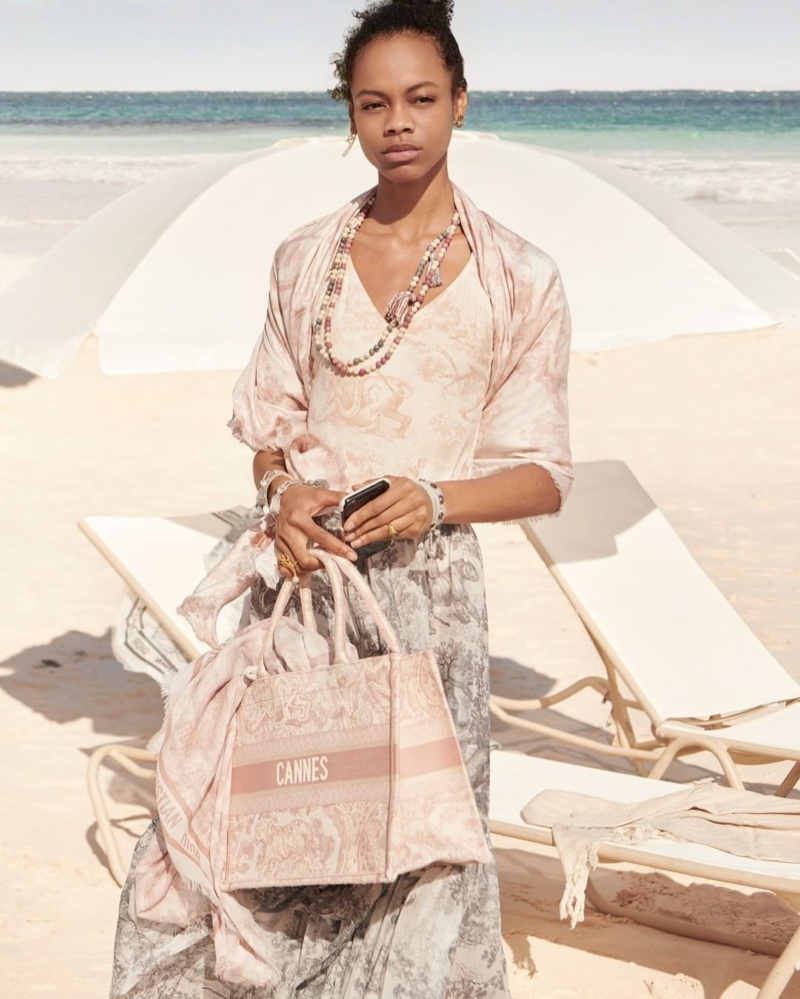 Aaliyah Hydes appears in Dior Dioriviera fall 2020 campaign.