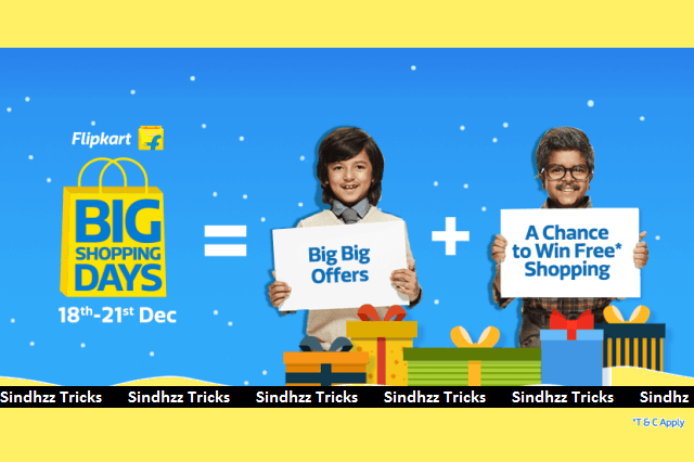 (Suggestions Added) Flipkart Big Shopping Days - Get Huge Discount And Free Products