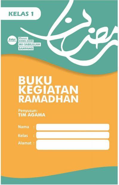 Contoh Buku Kegiatan Ramadan Siswa Kelas 1 SD/MI