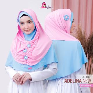 Jilbab Pasmina Instan Adelina New Bright Pink