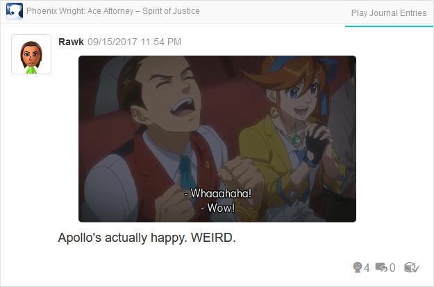 Phoenix Wright Ace Attorney Spirit of Justice happy Apollo