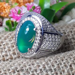 cincin pria batu mulia custom bahan perak tabur zircon