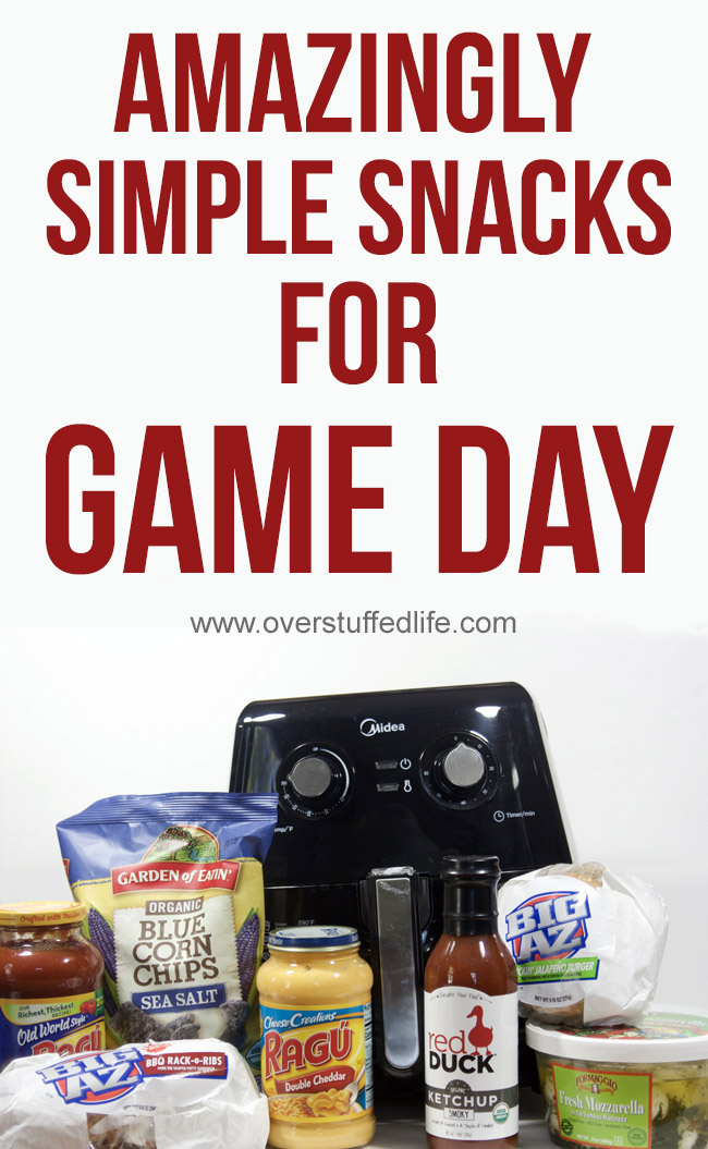 These products make your Game Day menu easy and delicious. Your guests will think you spent hours on the menu, but you will be done in just minutes!