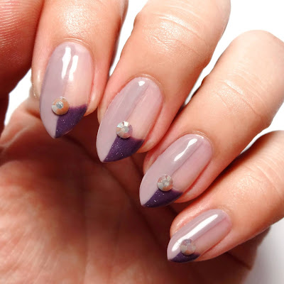 Mauve and Purple Geometric Nails