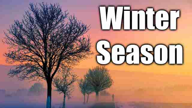 Essay on Winter season in English language