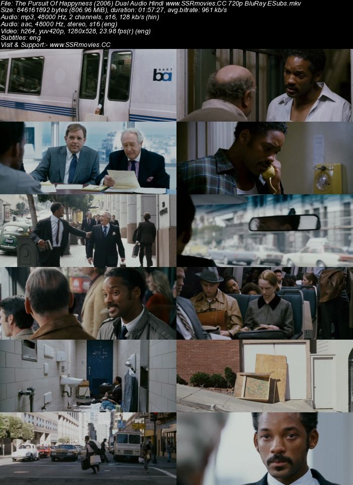 The Pursuit Of Happyness (2006) Dual Audio Hindi Dubbed 720p Full Movie Download