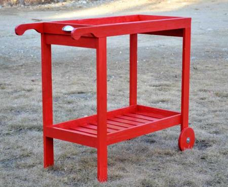 Woodshop Project Plans Rolling Bar Cart With Removable Tray