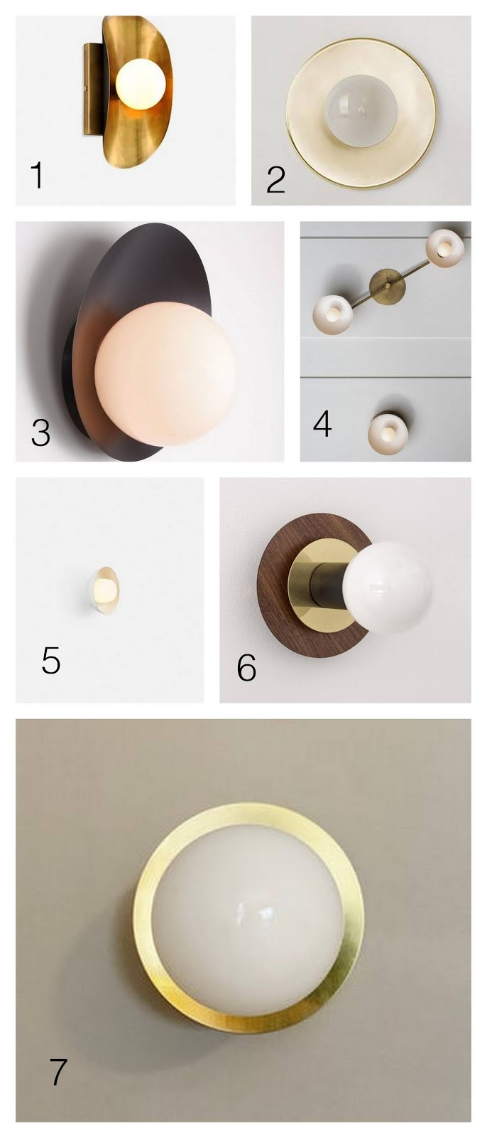 Newest obsession: the orb sconce, and 7 of my favorites