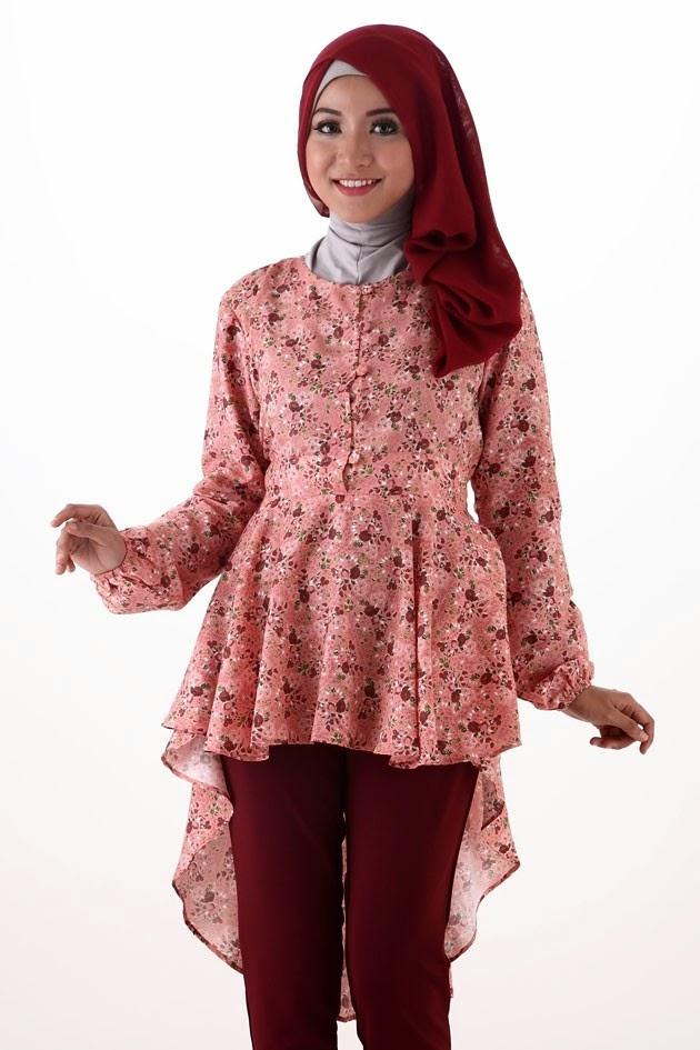 Desain Busana Muslim Batik Wanita Modern