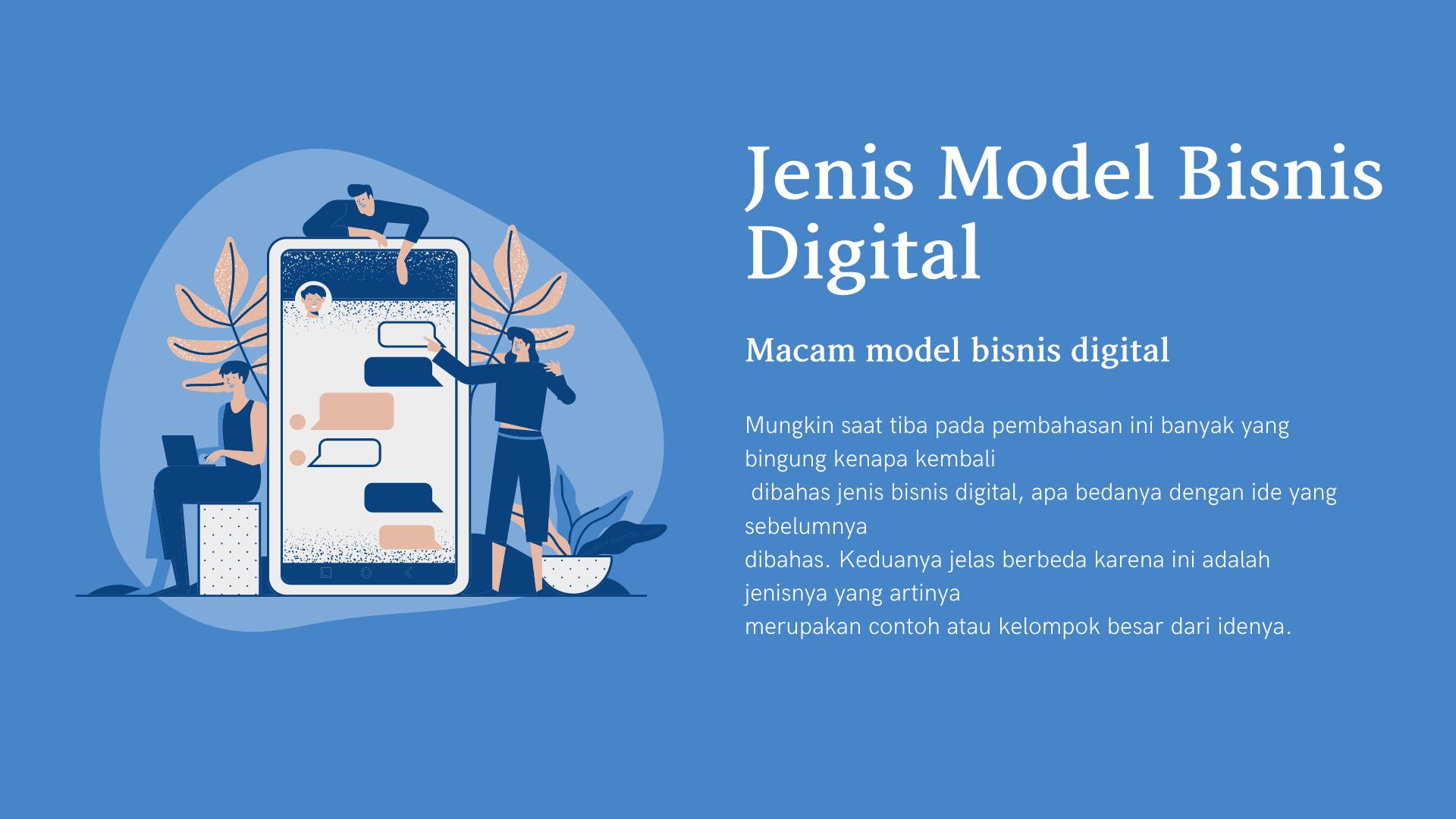 jenis model bisnis digital