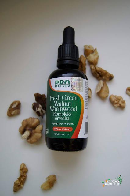 NOW - PRO NATURA - Fresh Green Walnut Wormwood - Kompleks orzecha szarego w walce z pasożytami - Wyciąg płynny 60 ml