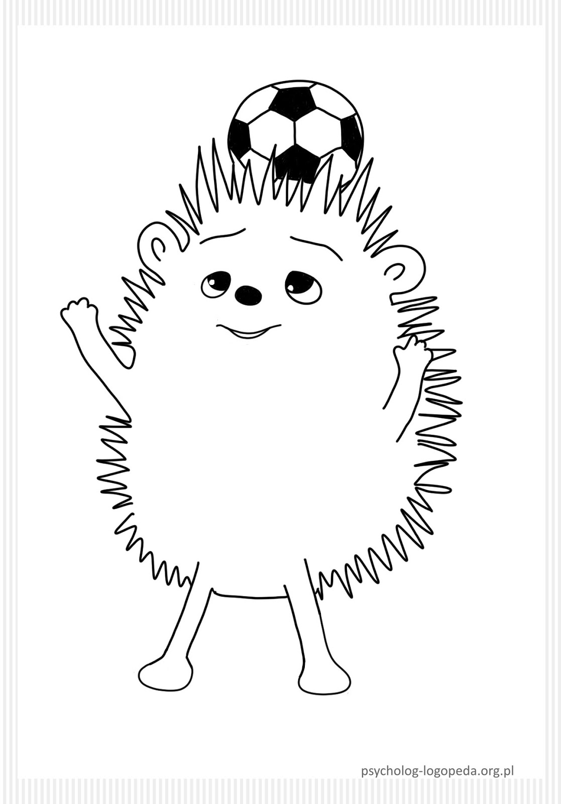 free printables hedgehog coloring page