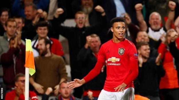 Europa League: Mason Greenwood scores as Manchester United secured first win