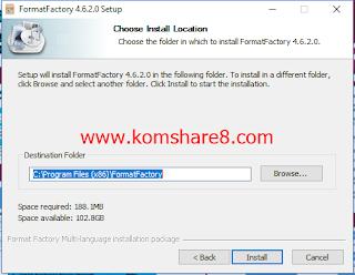 Download Software untuk Merubah Format Video + Cara Install (Format Factory)