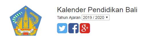 Update Terbaru kalender pendidikan Provinsi Bali 2019/2020