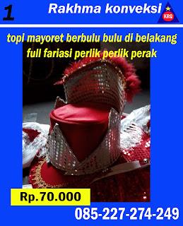 topi mayoret merah