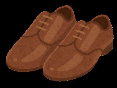 革靴のイラスト(茶)