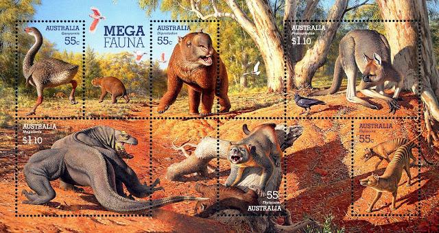 Australia Mega Fauna miniature sheet