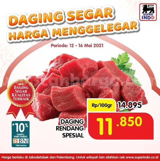 SUPERINDO Promo Daging Rendang Spesial hanya Rp 11.850