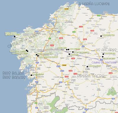 Mapa De Galicia Pueblos.Turismo De Galicia