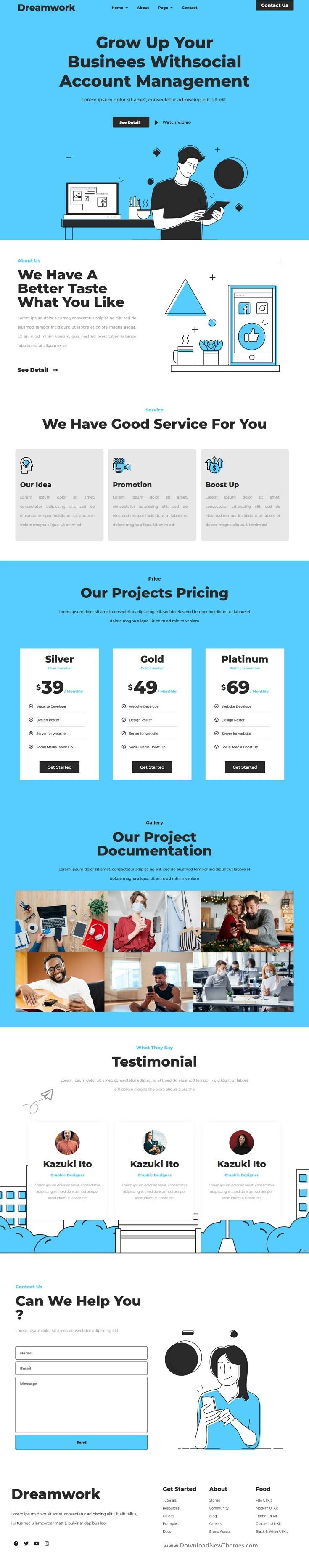 Business Management Elementor Template Kit