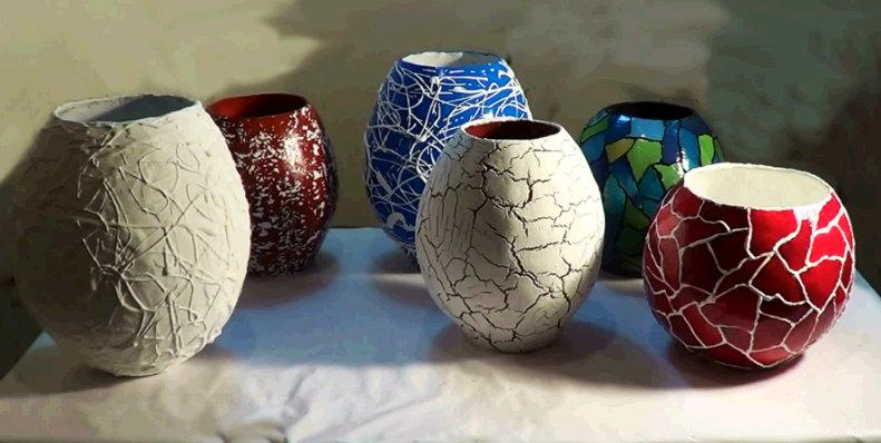 Artesanato Indiano Em Lisboa ~ Como fazer potes e vasos de jornal passo a passo Artesanatos Reciclagem