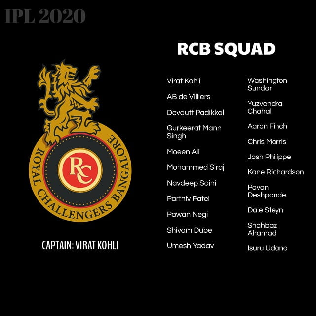 Royal Challengers Bangalore Team
