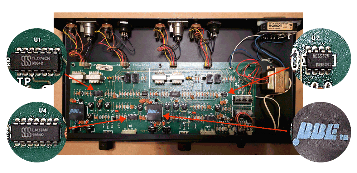 Electronic Projects: BBE 802 Sonic Maximizer Measurements and Teardown