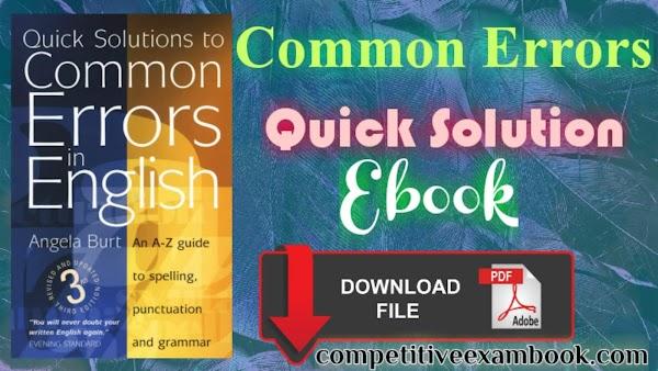 Common Errors: Quick solutions in English E-book