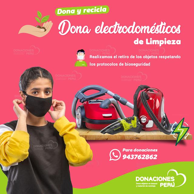 Dona y recicla electrodomésticos de limpieza en desuso