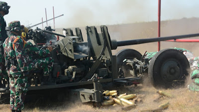 Dua Batalyon Pertahanan Udara, Gencar Latihan Menembak Senjata Berat di Jawa Timur