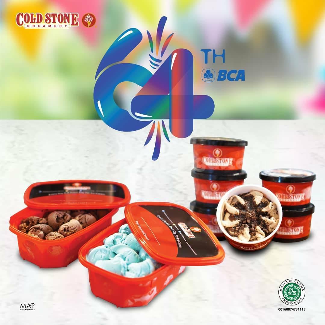 COLD STONE CREAMERY Promo HUT BCA 64 – DISKON SERBA Rp 64.000