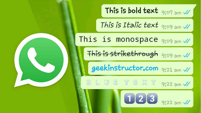 Change WhatsApp font style and color