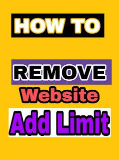 google adsence add limit remove