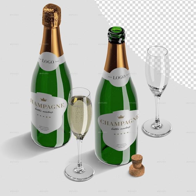 Champagne Bottle Mockup Pack 26775293