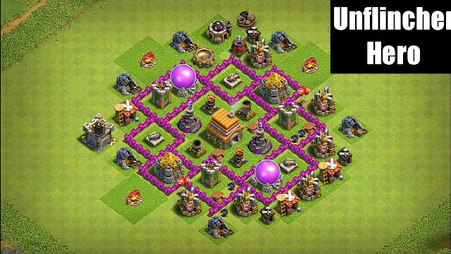 Best Town hall 6 TH6 Trophy Base Layout
