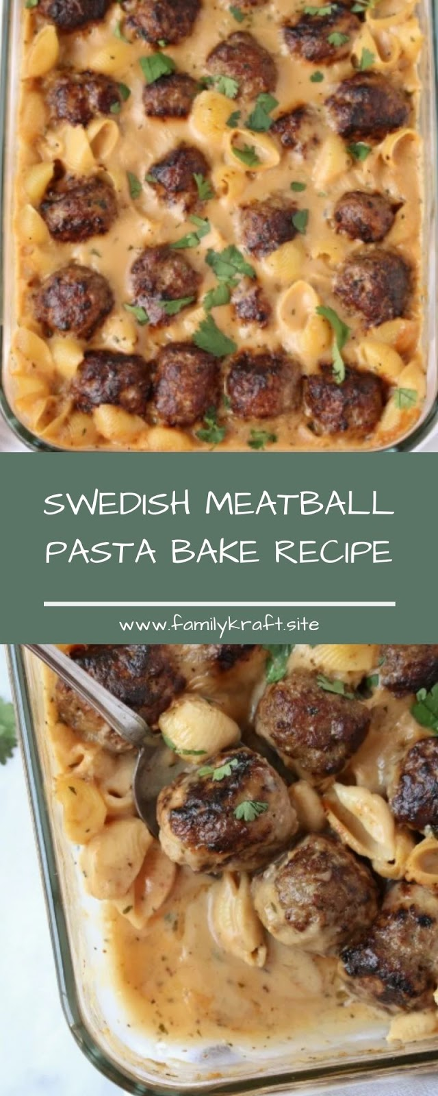 SWEDISH MEATBALL PASTA BAKE RECIPE