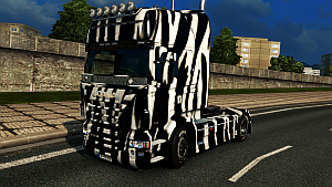 Zebra skin for Scania RJL
