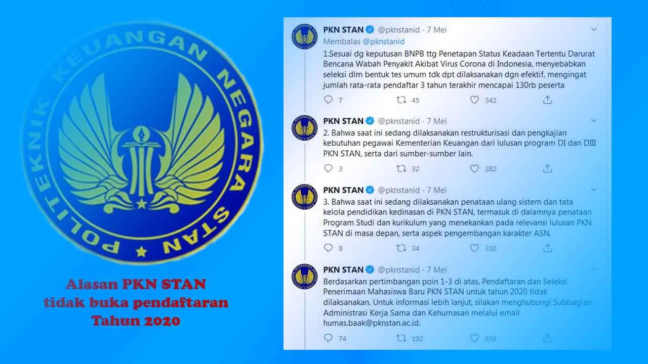 Alasan PKN STAN tidak buka pendaftaran tahun 2020