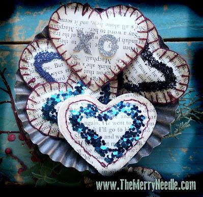 free tutorial diy Valentine's Day hearts
