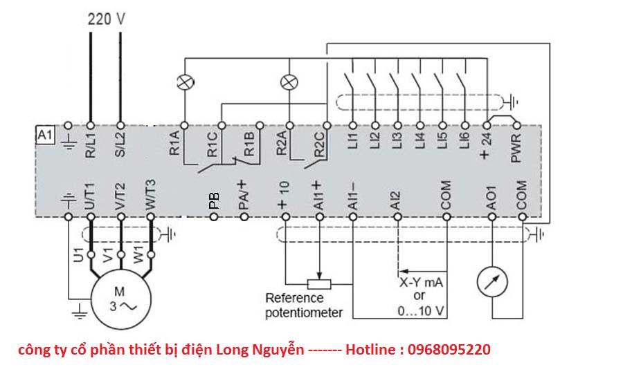 Hướng dẫn đấu nối và cài đặt Biến tần ALTIVAR320 ATV320 của Schenider