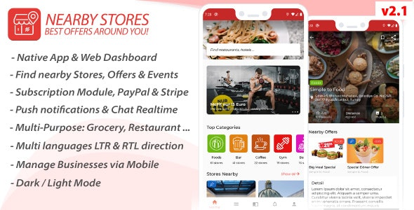 NearbyStores Android php script–Offers, Events & Chat Realtime + Firebase
