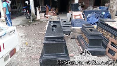 Contoh Kijing Granit, Jual Kijing Makam Granit Hitam, Harga Makam Granit