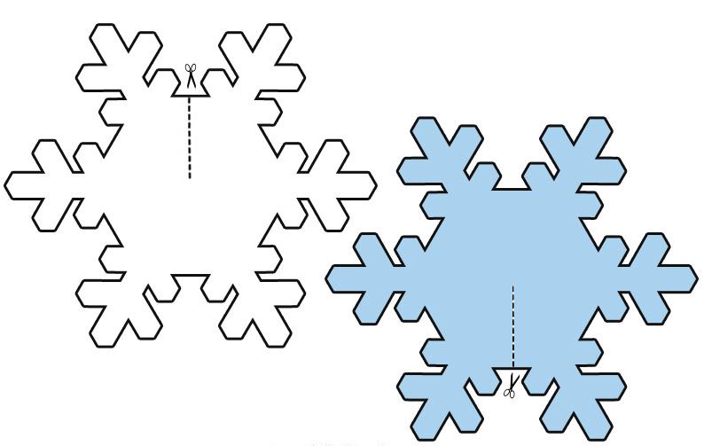 Fise de lucru si planse de colorat pentru craciun for Fiocco di neve da ritagliare