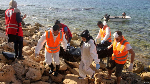 Bodies of Dead Libyian migrant